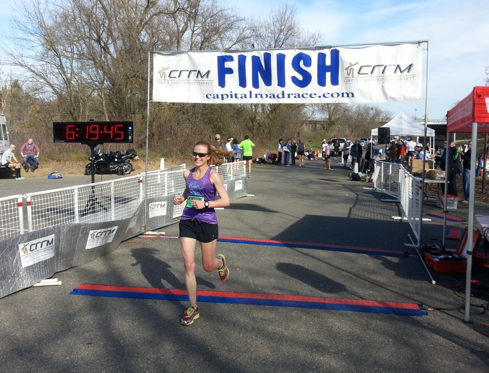 Amy Halseth wins the 50 mile race. (SRN photo)