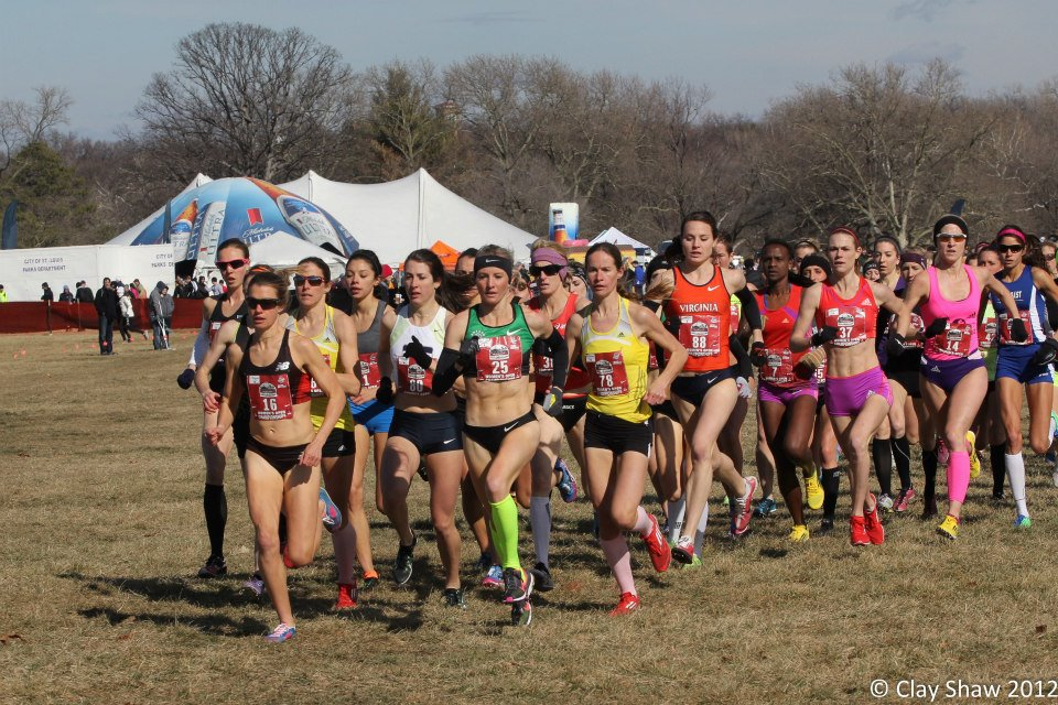 Kim Conley leading the field. (Photo by Clay Shaw)