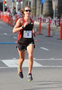 Kim Conley on the way to the win (Photo by Sean Dulany/Freeplay Magazine)