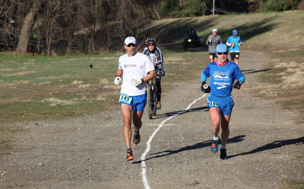 Hanna (left) and Pommier lead the pack. (Photo by Joe McCladdie)