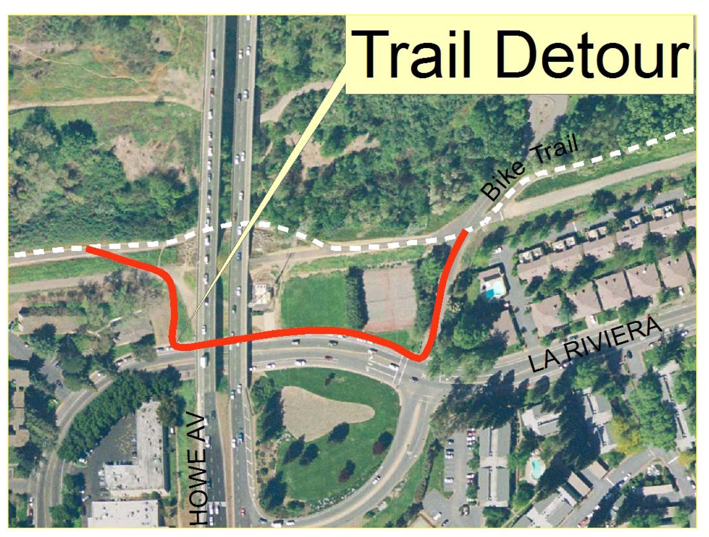 South Howe detour (Image courtesy Army Corps of Engineers)