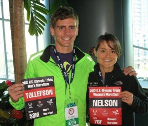 Tim and Lindsay Tollefson before the 2012 Trials (Photo courtesy Tim Tollefson)